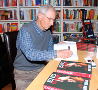 Bob Rueff Signs Copies Of His New Thriller Mind Game At