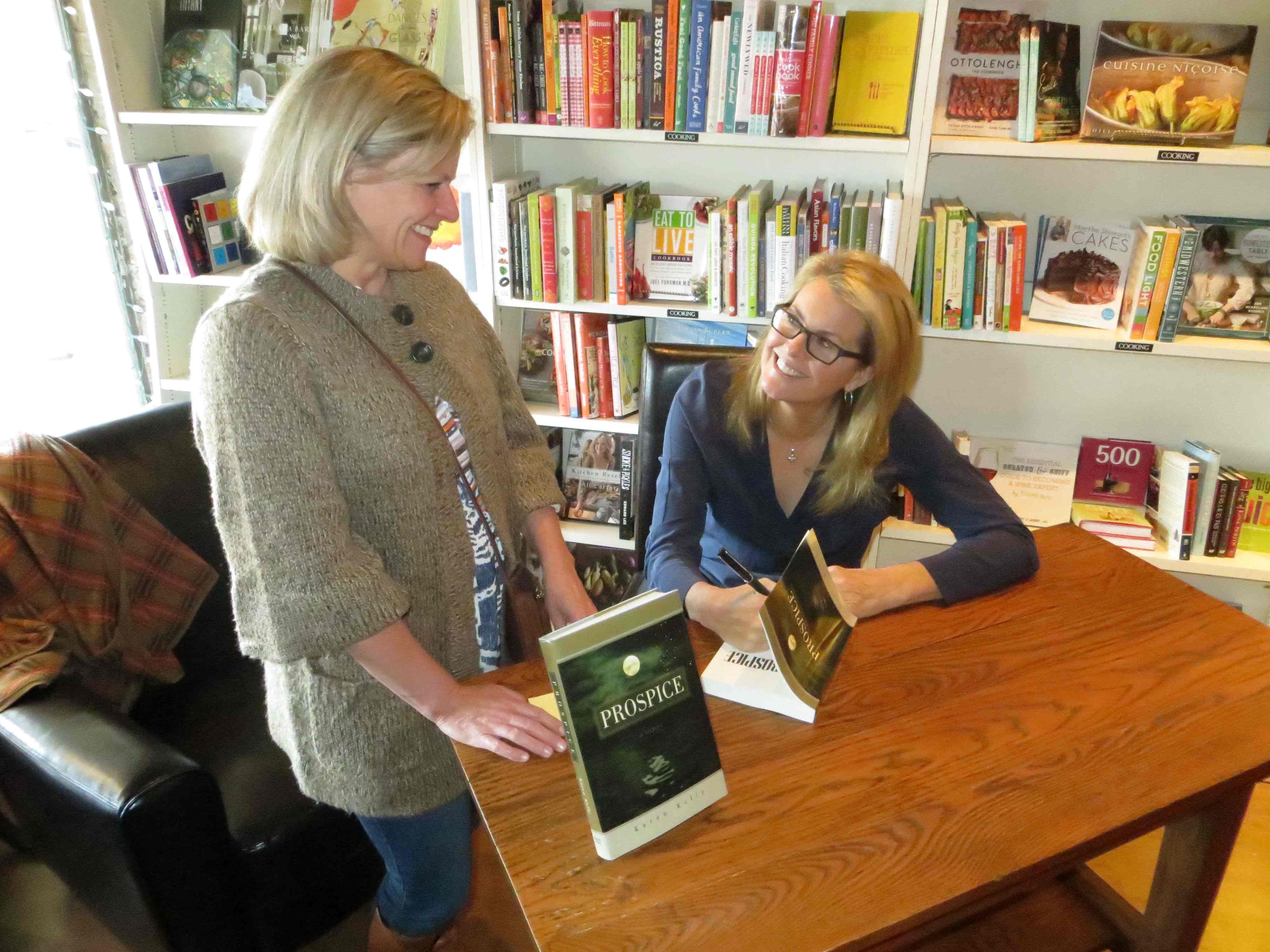 Karen Kelly Author Prospice Signs Books At The Bookcase